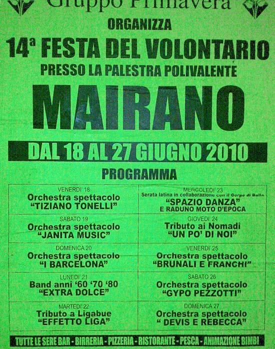 festa di Mairano