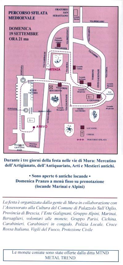 Locandina della festa di Mura a Palazzolo