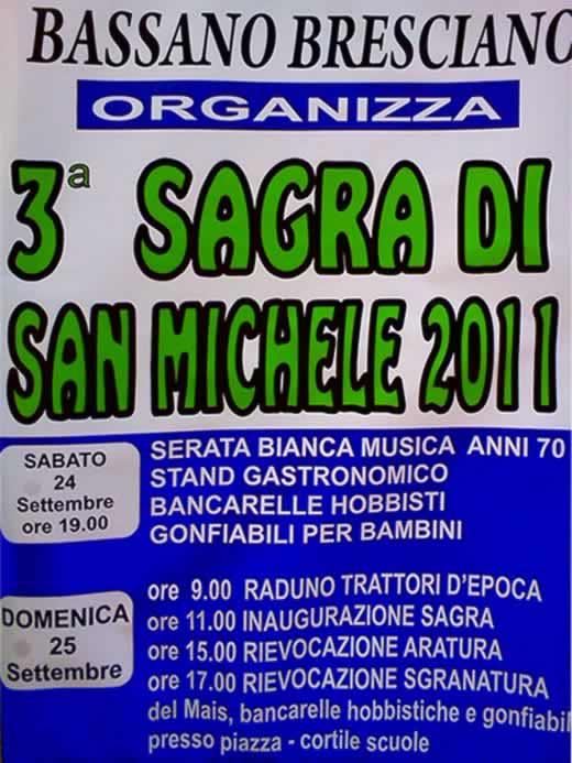 sagra san michele di Bassano Bresciano