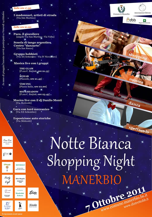 locandina notte bianca a Manerbio