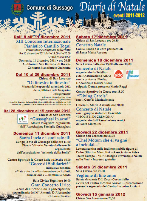 diario di Natale a Gussago
