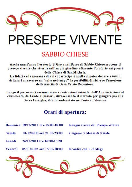 presepe Sabbio Chiese