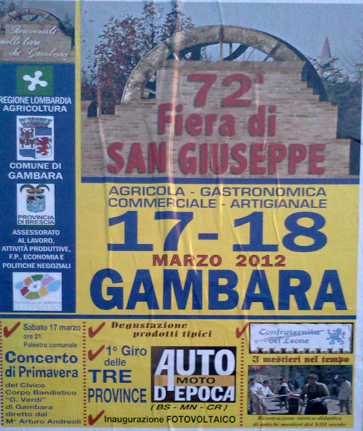 fiera di san giuseppe a Gambara
