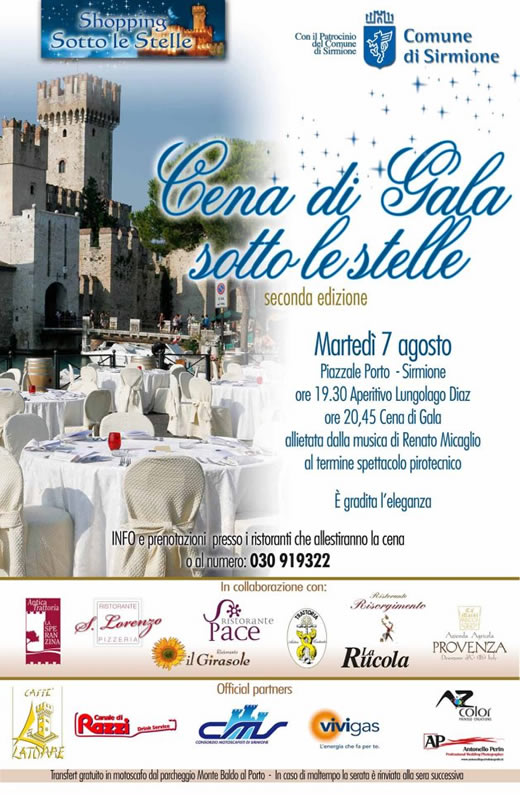 cena sotto le stelle a Sirmione