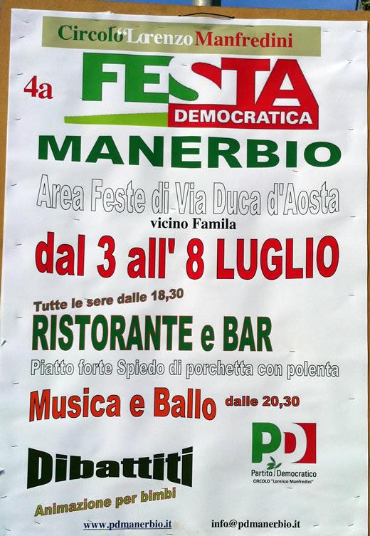 festa del PD a Manerbio