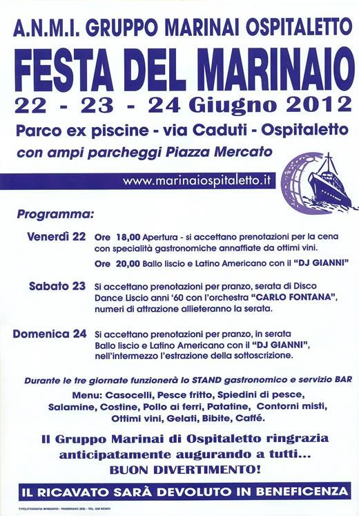 festa del marinaio a Ospitaletto