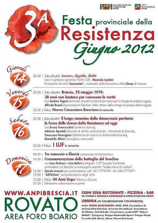 festa della resistenza a Rovato