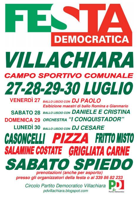 festa democratica di villachiara