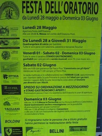 festa oratorio ad Azzano Mella