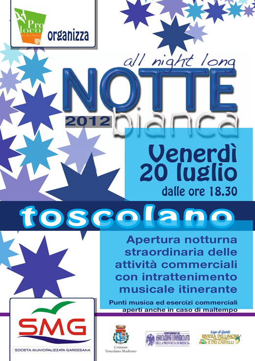 notte bianca a toscolano maderno