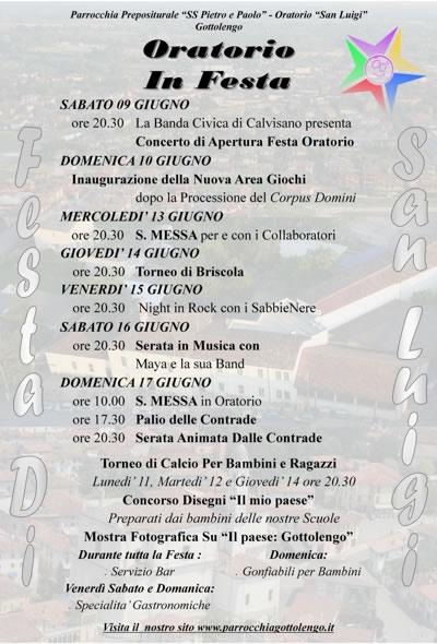 oratorio in festa a Gottolengo