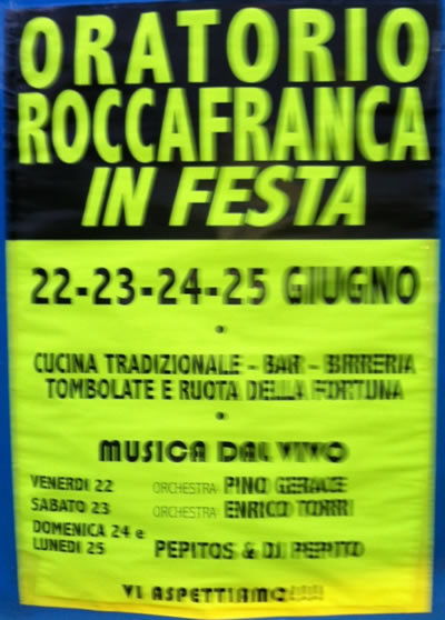 oratorio Roccafranca in festa