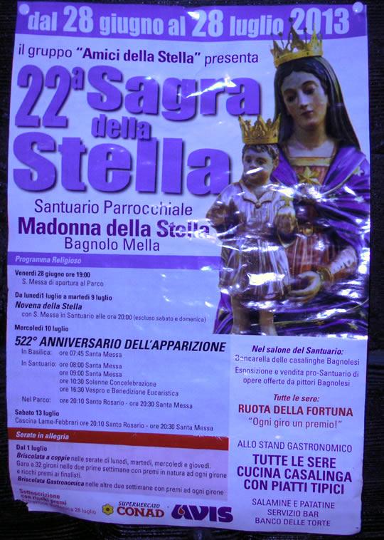 22a sagra della stella a Bagnolo Mella