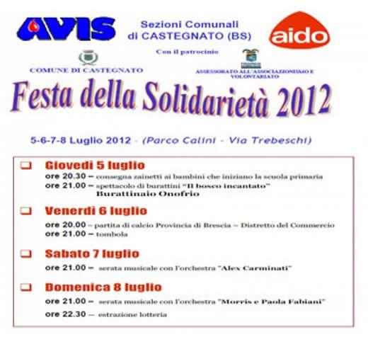 Festa della Solidarieta Ass AIDO - Castegnato