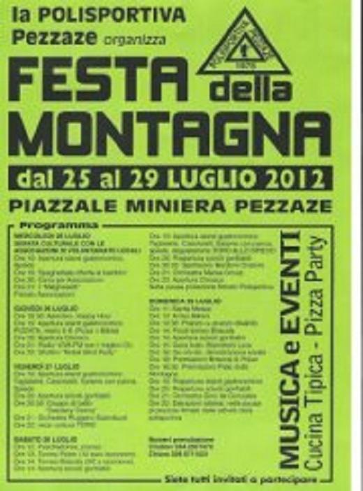 Festa della montagna 2012 Pezzaze