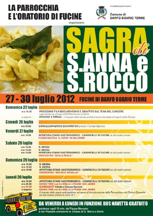 Sagra S. Anna e S. Rocco 2012 Fucine di Darfo Boario Terme