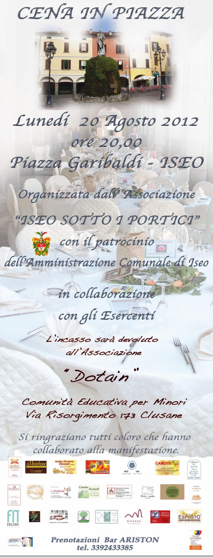 cena in piazza a Iseo