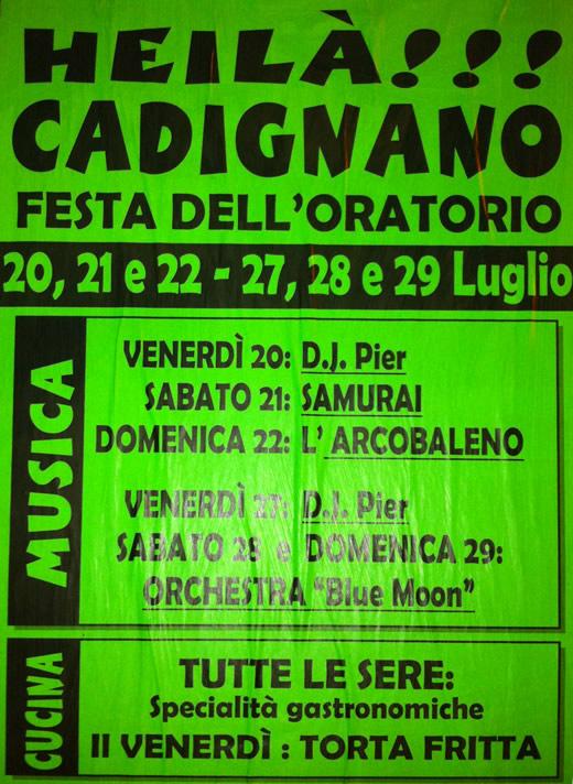 festa a Cadignano