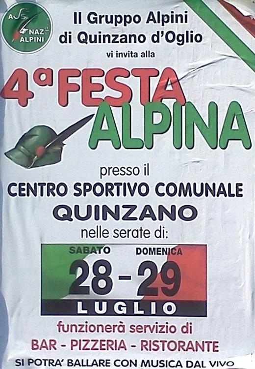 festa alpina a quinzano oglio