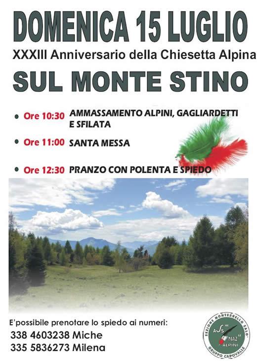 festa alpina sul monte stino