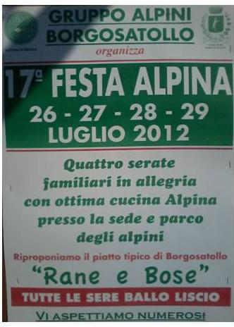festa degli alpini a Borgosatollo