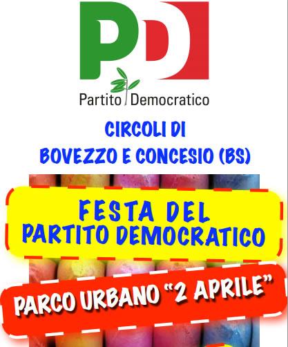 festa del PD a Bovezzo