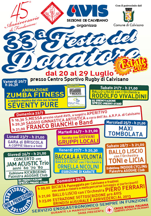 festa del donatore AVIS a Calvisano