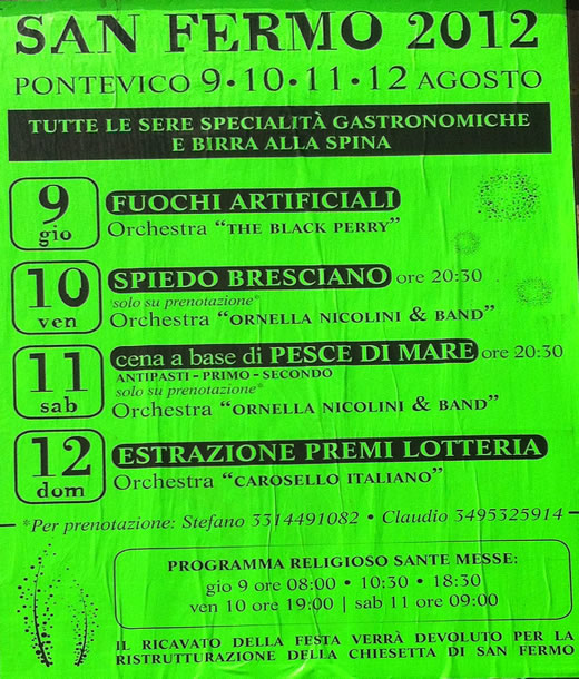festa di San Fermo a Pontevico
