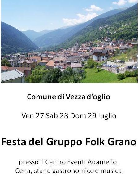 festa gruppo folk grano a Vezza d'oglio