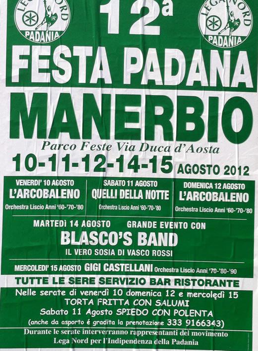 festa padana a Manerbio