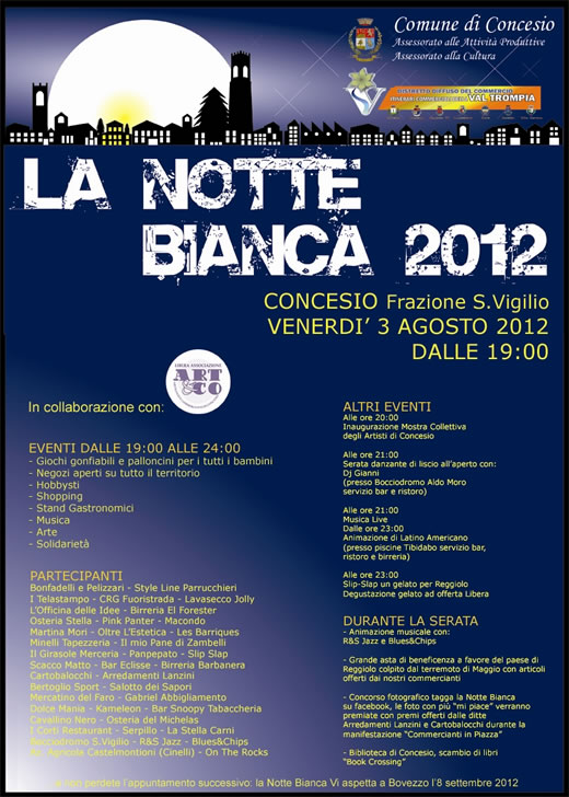 notte bianca a Concesio