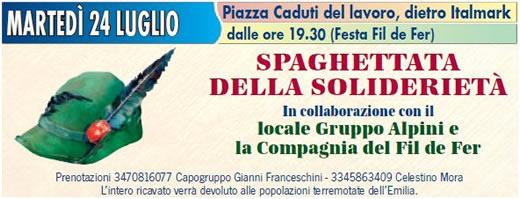 spaghettata della solidarieta a Villanuova sul Clisi