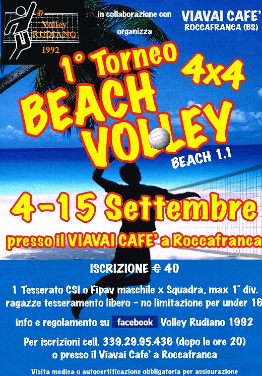 1 torneo beach volley