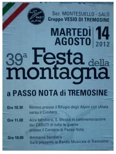 39° festa della montagna a Tremosine