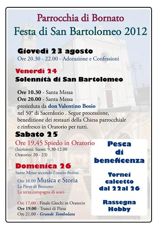 Festa San Bartolomeo Bornato - Cazzago SanMartino