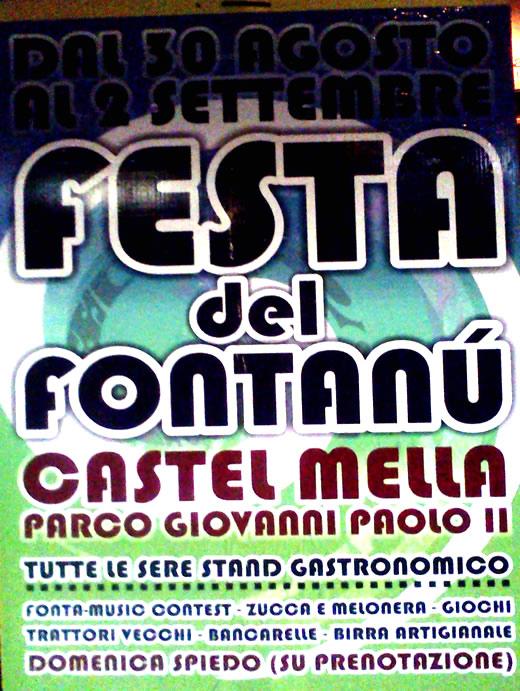 festa dei fontanu a Castelmella