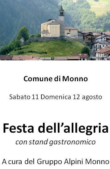 festa dell'allegria a Monno