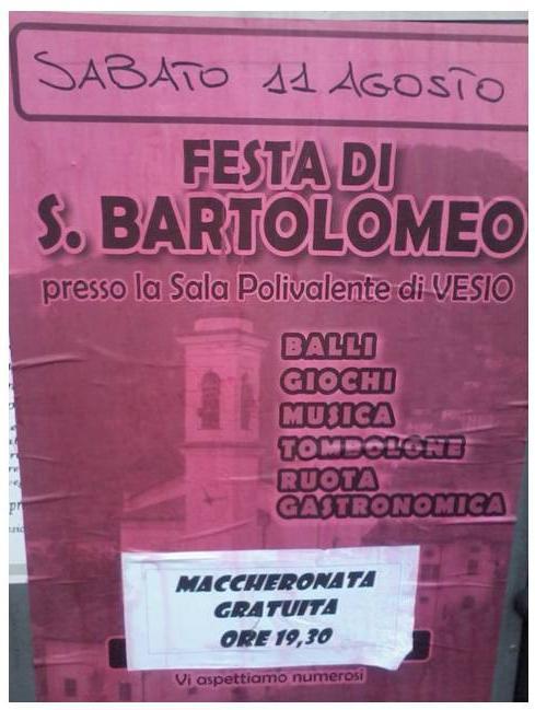 festa di San Bartolomeo a tremosine