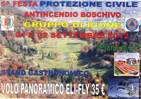 festa protezione civile a Bione