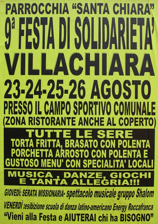 festa solidarieta a Villachiara