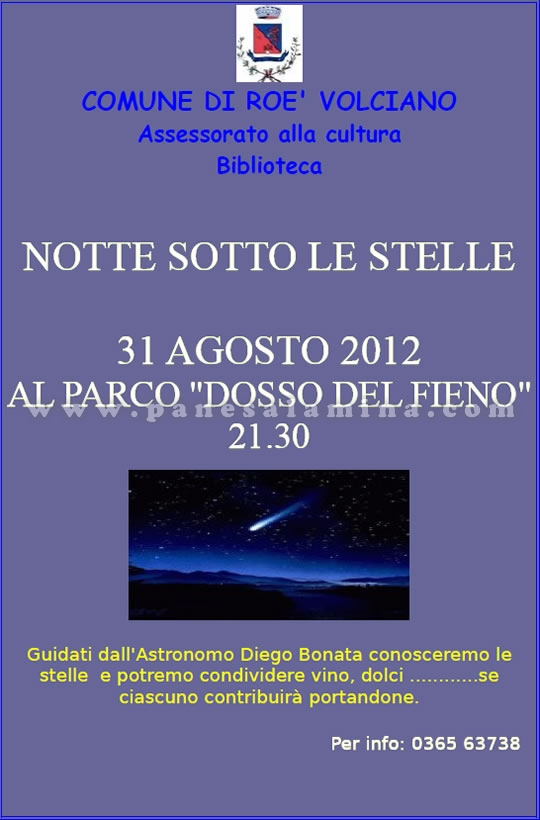notte sotto le stelle a Roe Volciano