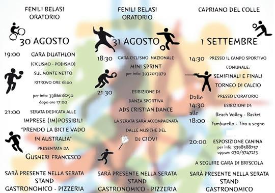 sport fest a Capriano del Colle e Fenili Belasi 2