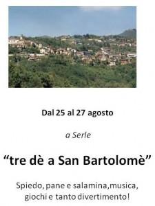 tre dè a San Bartolomè