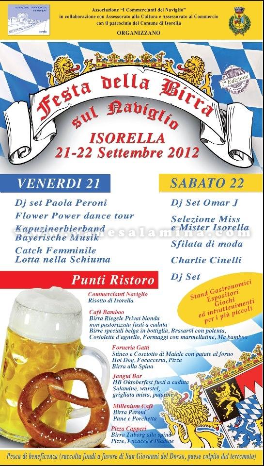 Festa della birra sul naviglio Isorella