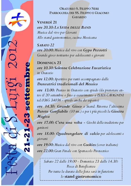 festa di San Luigi a Gavardo