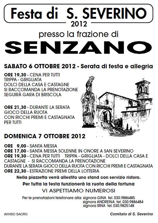 festa di san severino a Senzano