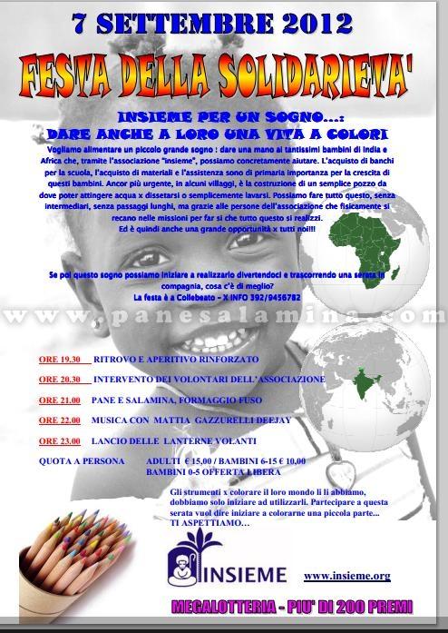 festa solidarietà a Collebeato