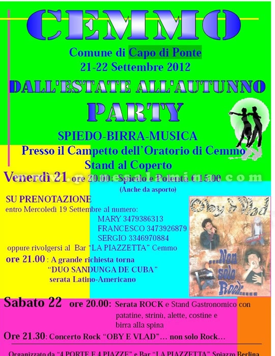 party a Cemmo
