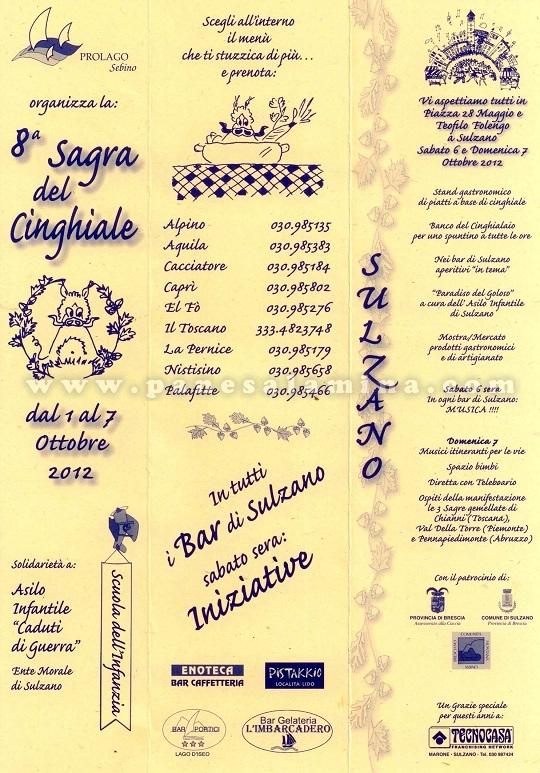 sagra del cinghiale Sulzano A