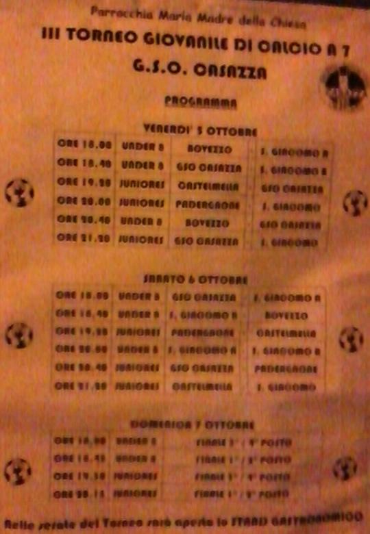 3° Torneo giovanile di calcio a 7